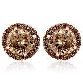 earrings - - 2.83 - CARATS - 2.83 - CARATS - Rose-Gold