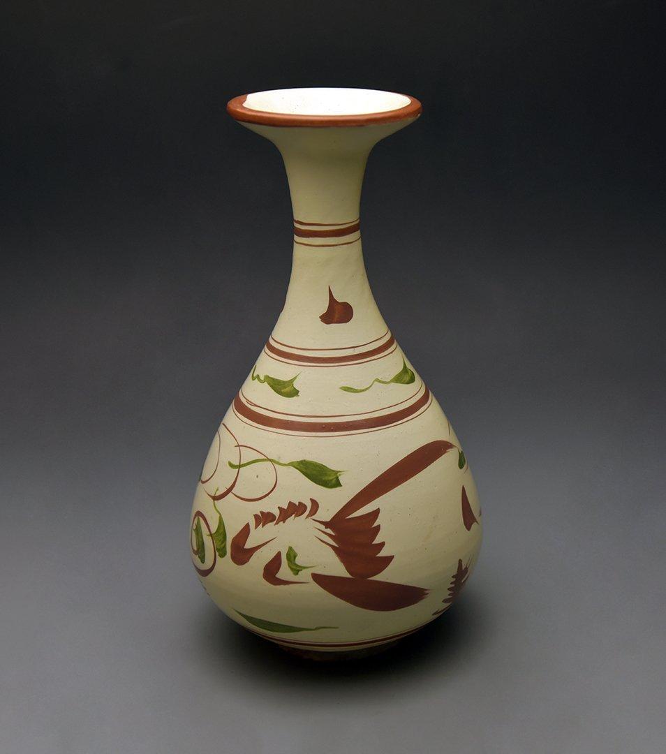"""Jin Dynasty,  """"Ci Zhou"""" Kiln Painted Bottle Vase"""