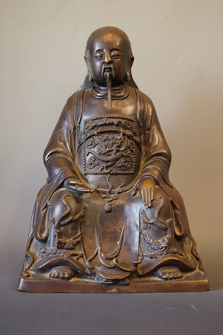 "Late Ming Dynasty, A Bronze ""Xuan Wu"" statue"