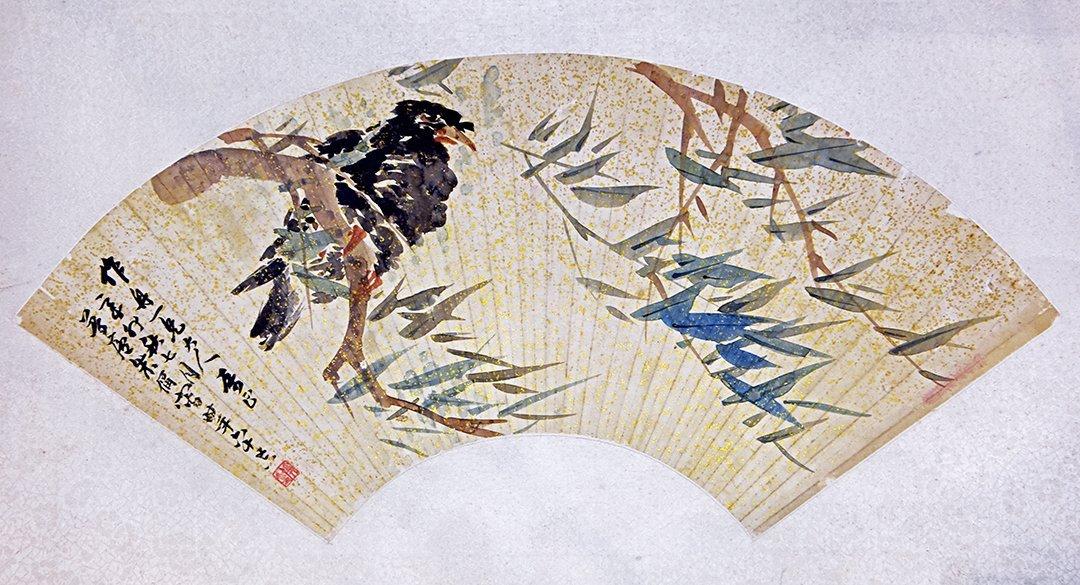 "Chinese Ink ""Birds and Flowers"" Painting - Zhu Luolu"