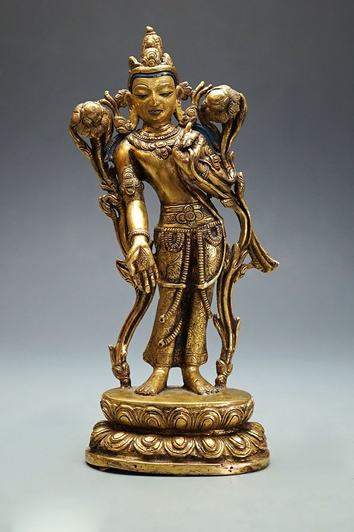 Middle and Late Ming Dynasty, Gilt-Bronze Shakyamuni