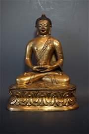 Middle Qing Dynasty, A Gilt Amitabha