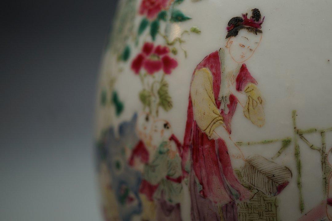 """Qing Dynasty, A Famille-Rose """"Jiao Zi Tu"""" Baluster - 2"""