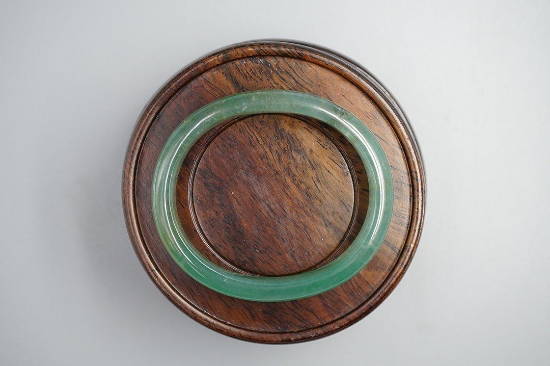 A Class Burma Jade (Jadeite) Bangle of Noble Consort - 3