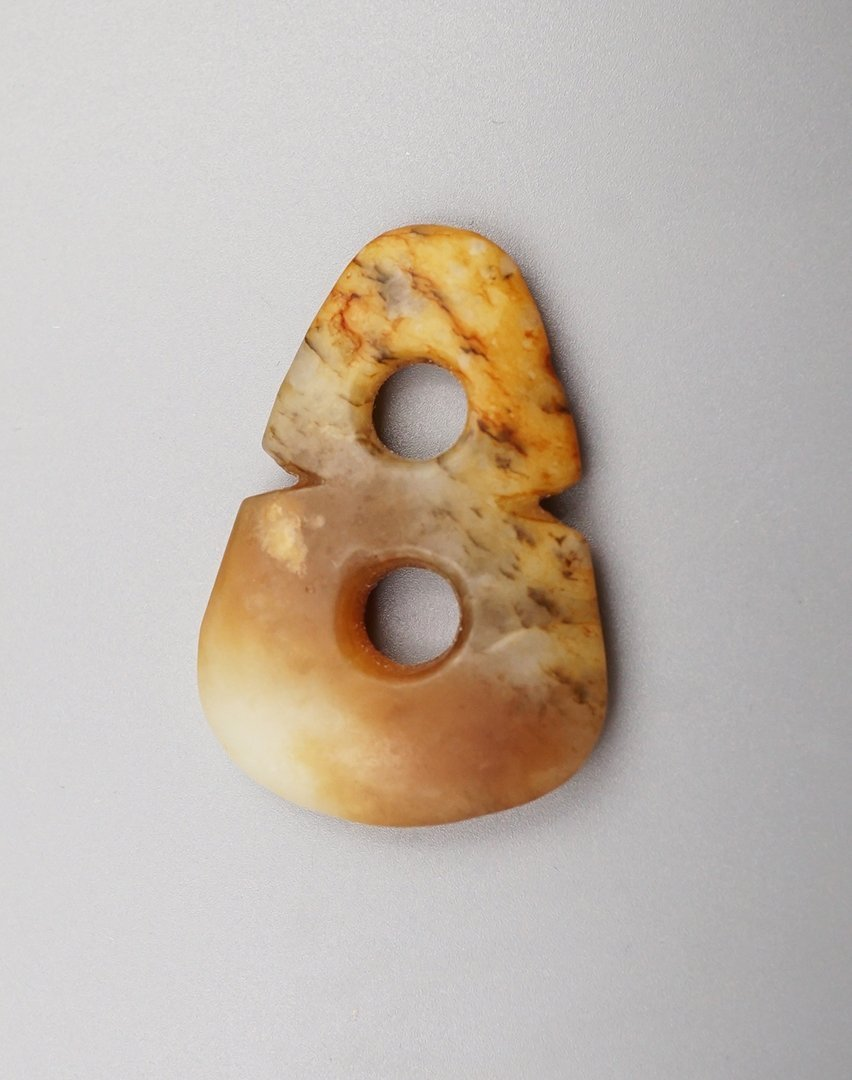 Neolithic Culture Age, Two - ring Jade Bi (disc)