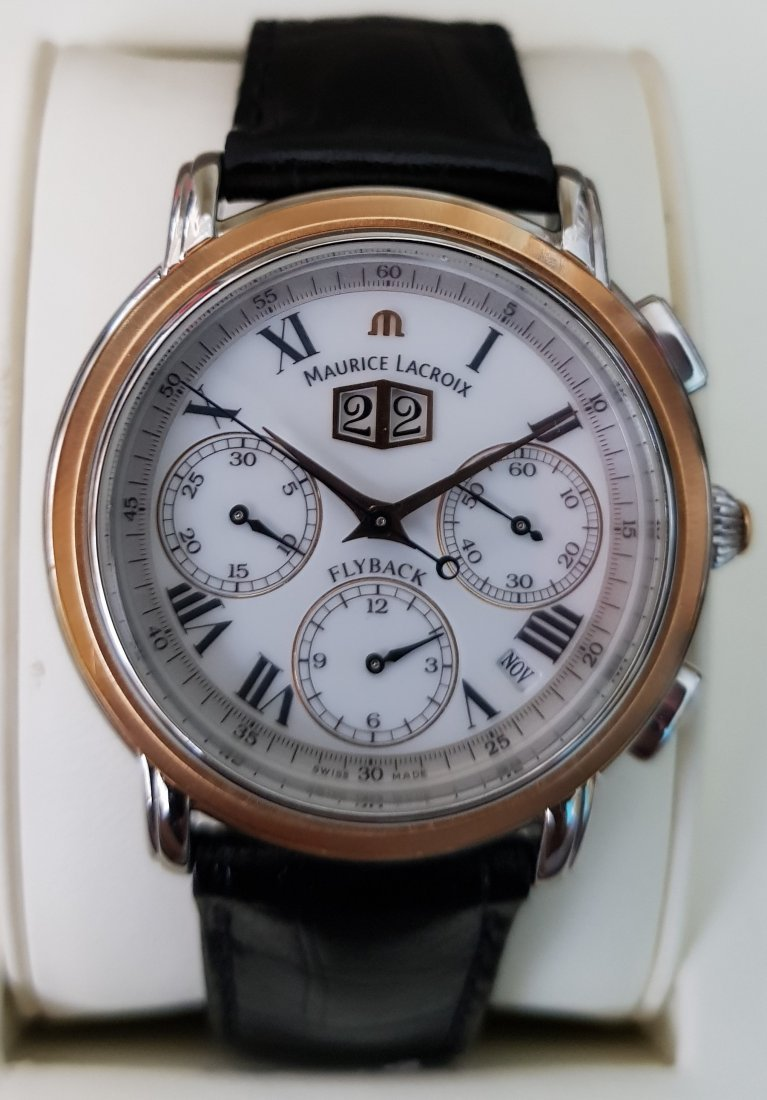Maurice Lacroix Masterpiece Flyback Chronograph 18k Stl