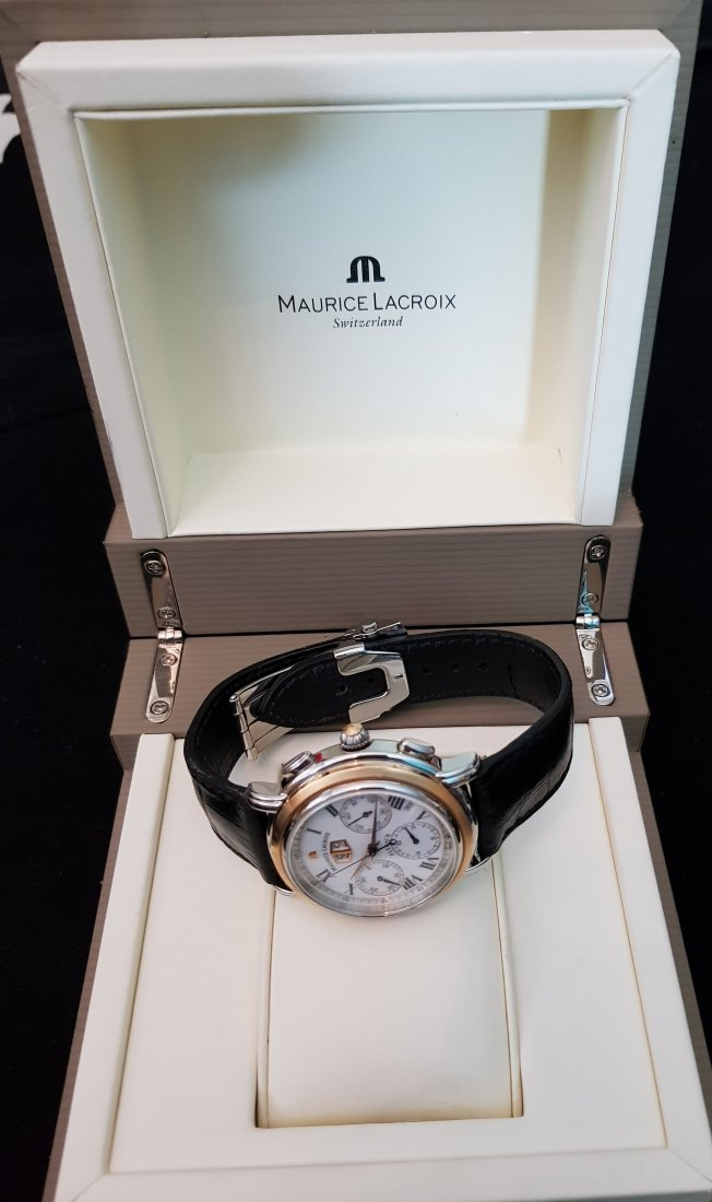 Maurice Lacroix Masterpiece Flyback Chronograph 18k Stl - 9