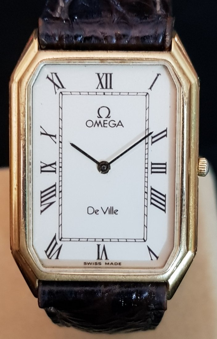 Gentleman's Omega Deville 1980's Cal 1377 Quartz