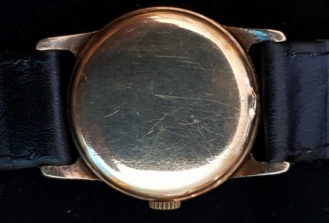 Omega 1939 Aged Pilot Dial 14kt GF Watch - 4