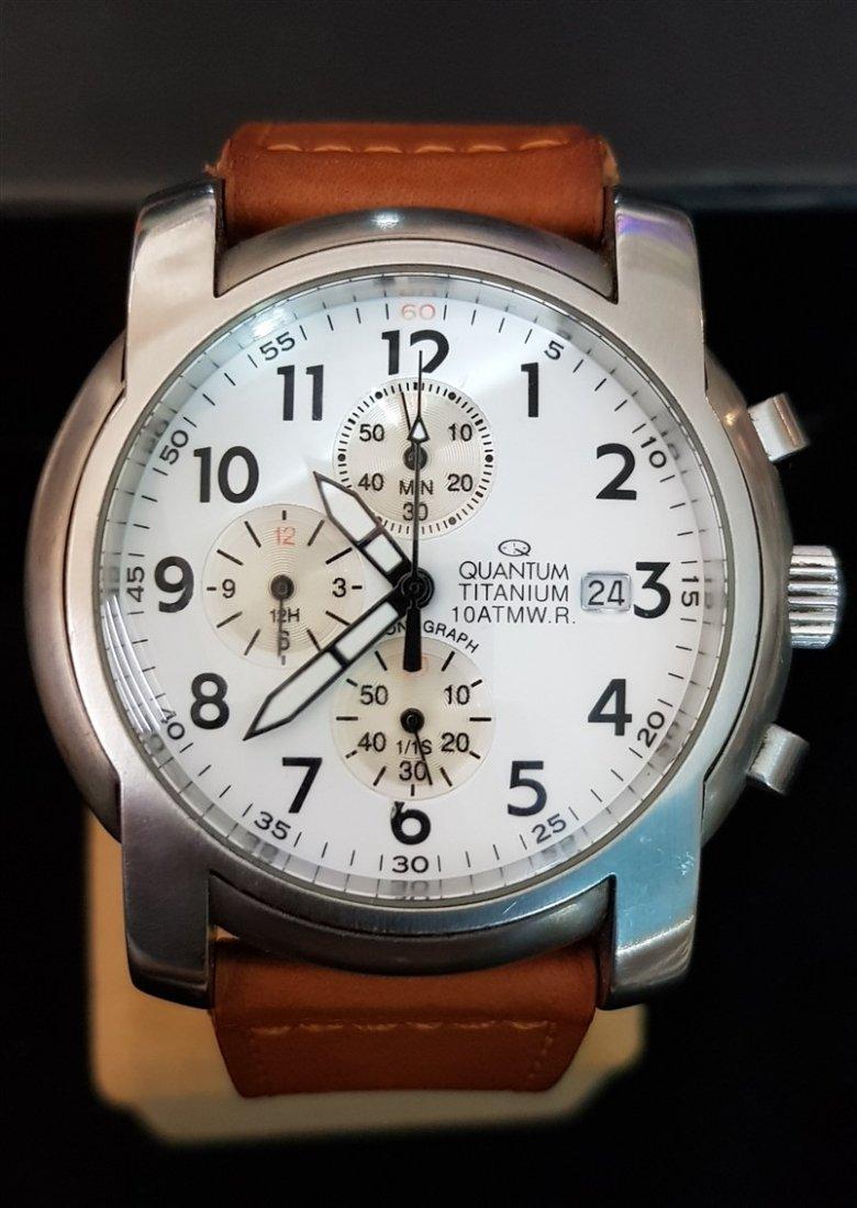 Quantum Oversize All Titanium Chronograph Watch