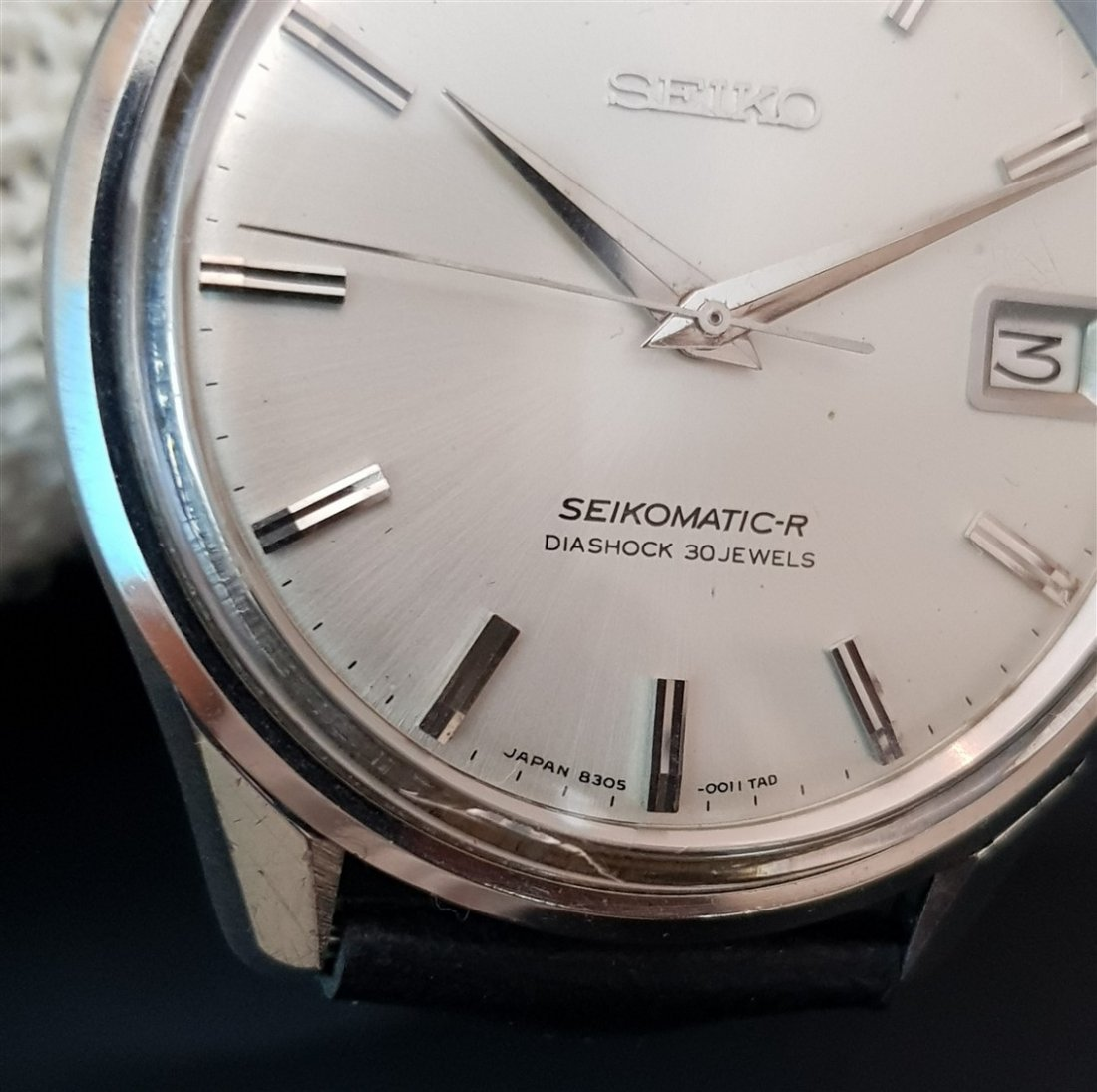 Rare 1960's Seikomatic-R  Diashock 30 Jewels Japan - 3