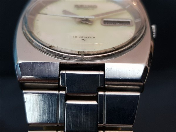 Ultra Rare 70's Seiko Automatic Mother Of Pearl Dial - 4