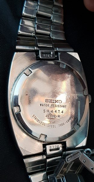 Ultra Rare 70's Seiko Automatic Mother Of Pearl Dial - 6