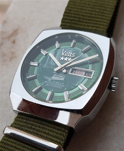 Rare 1970's Swiss Velis Automatic Tram Mother Of Pearl