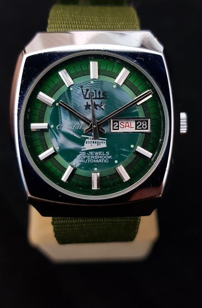 Rare 1970's Swiss Velis Automatic Tram Mother Of Pearl - 2
