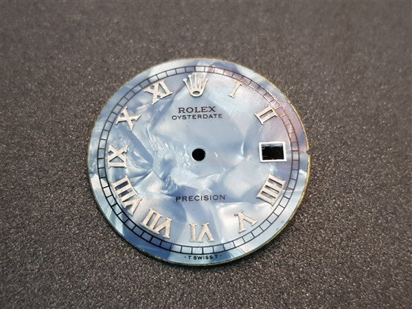 Rolex Precision Mother Of Pearl Roman Numerals Dial