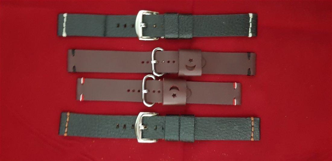 20mm Lug Hand Made Calf Leather Straps Lot
