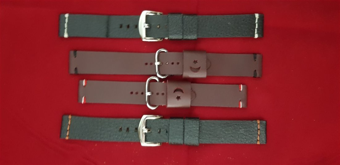 20mm Lug Hand Made Calf Leather Straps Lot