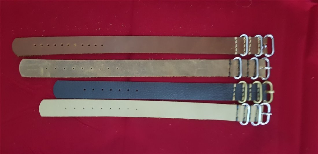 20mm Lug Hand Made Calf Leather Zulu Straps Lot