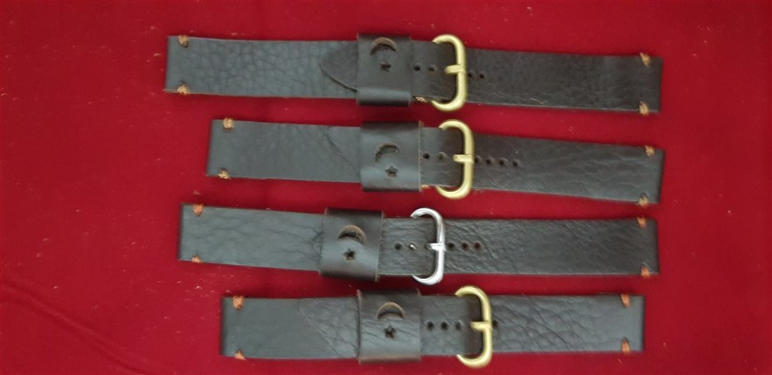 19mm Lug Hand Made Calf Leather Straps Lot
