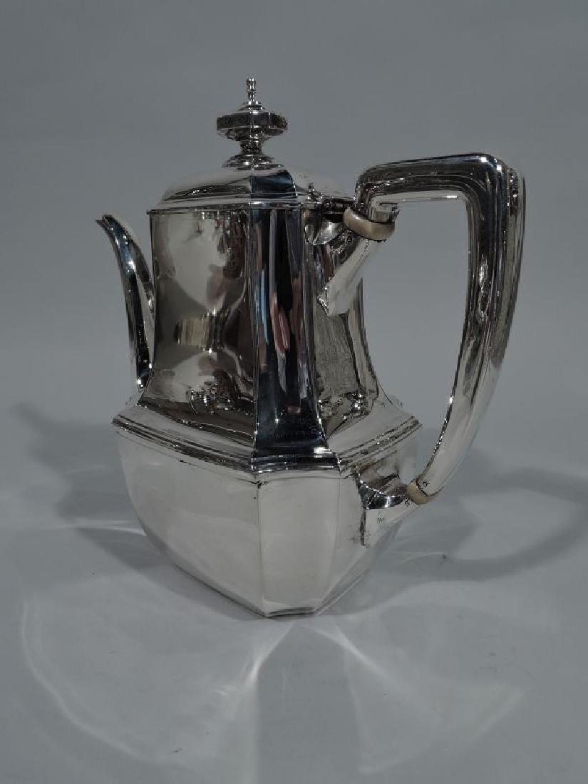 Tiffany Sterling Silver Coffeepot in Desirable Hampton - 3