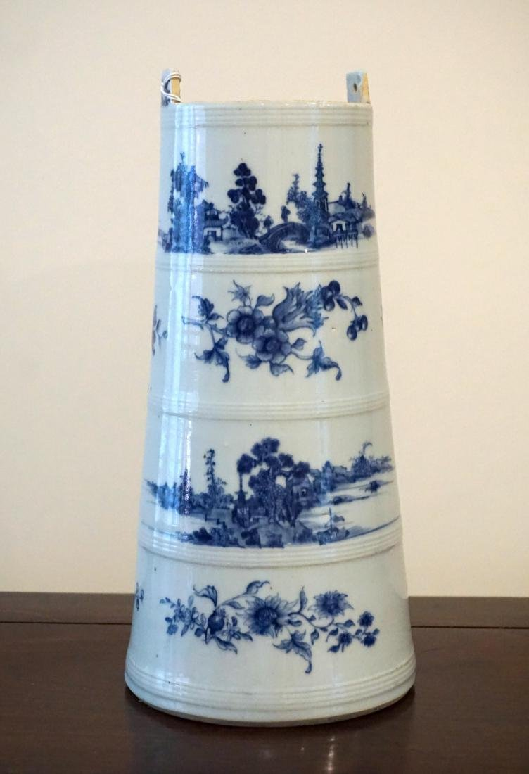 A Rare Chinese Export Blue and White 'Landscape'