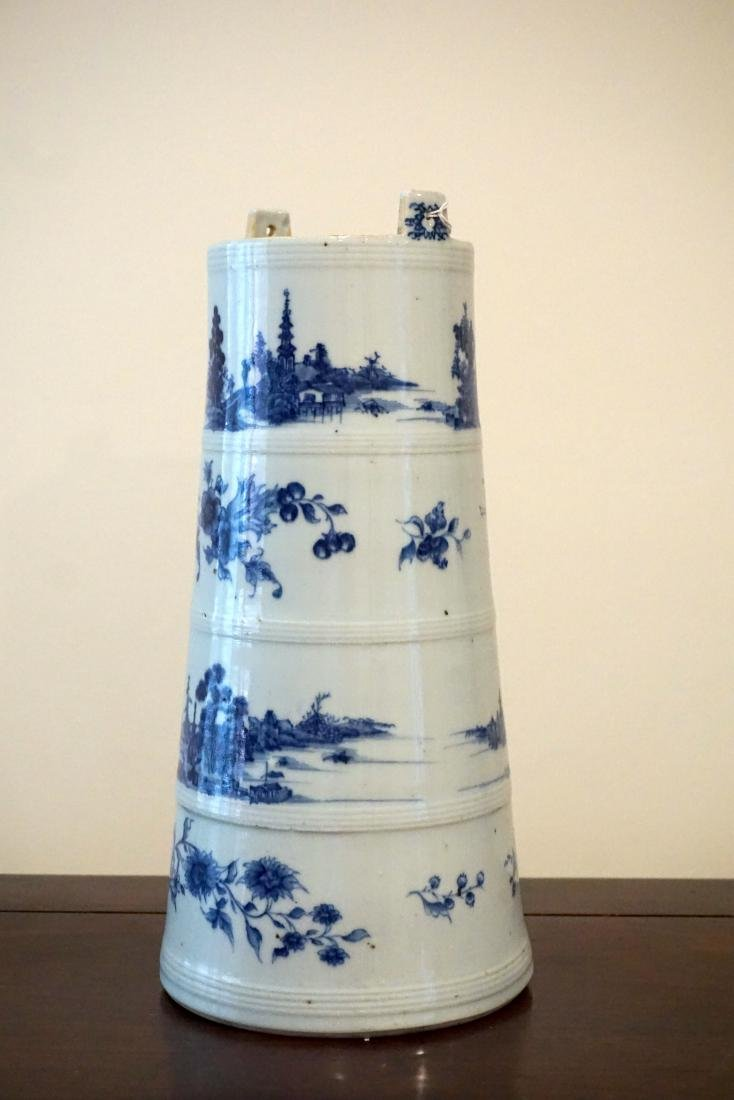 A Rare Chinese Export Blue and White 'Landscape' - 2