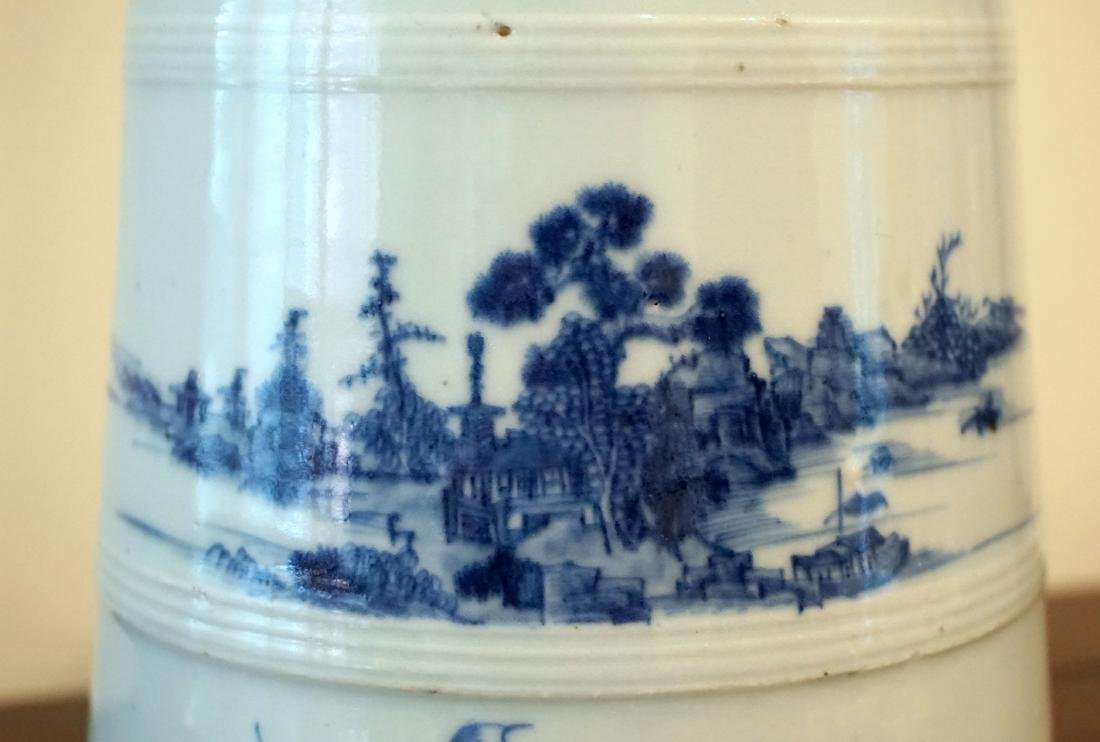 A Rare Chinese Export Blue and White 'Landscape' - 7