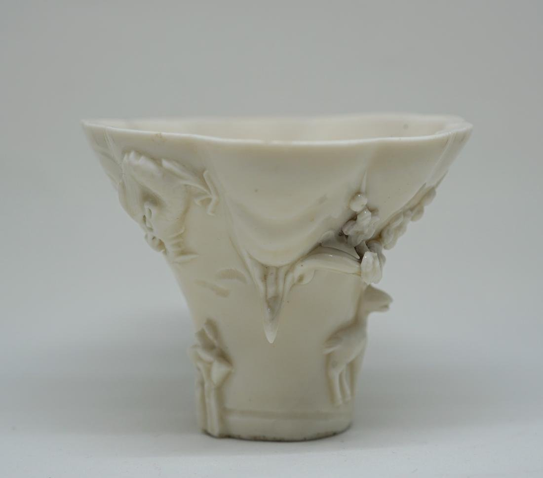 A Large Chinese Dehua Libation Cup - 2