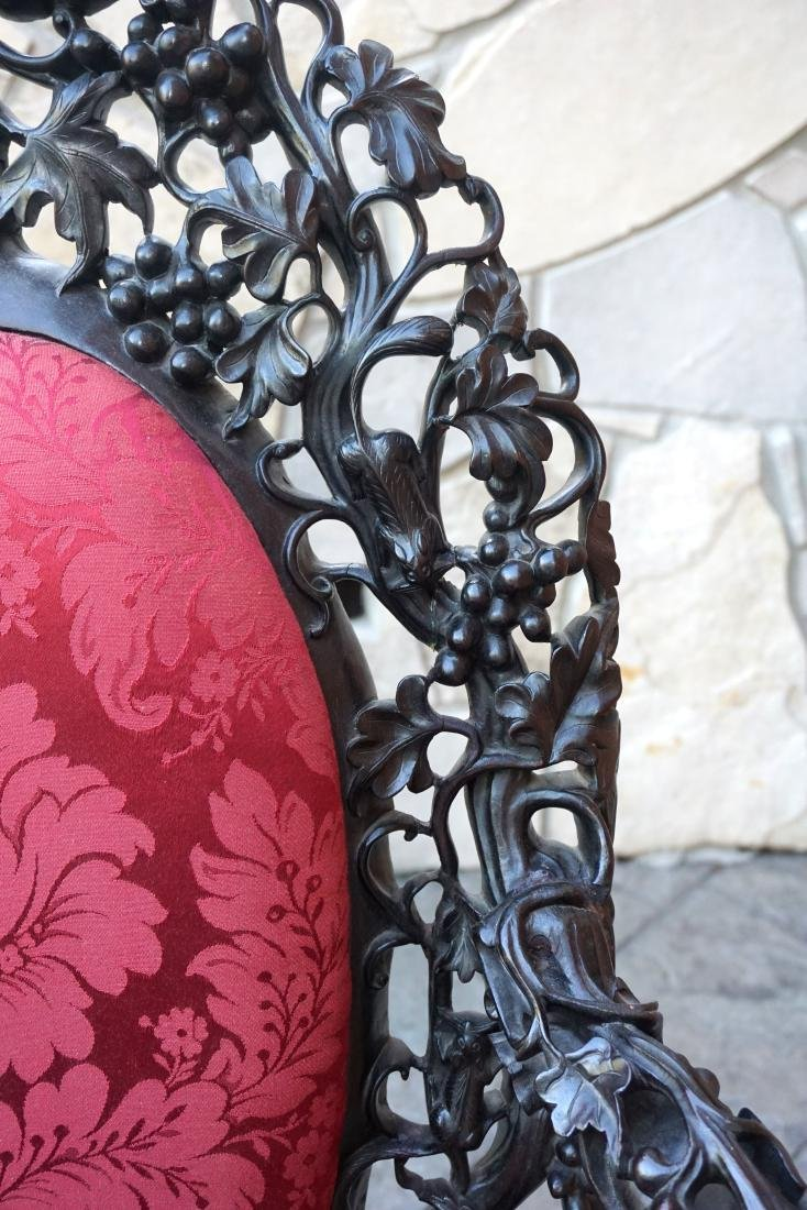 Chinese Reticulated Arm Chair - 4