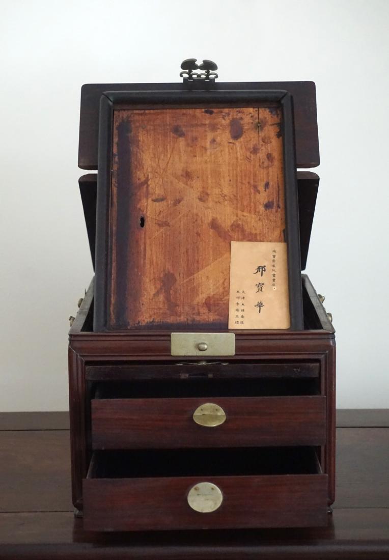 A Chinese Huali Wood Mirror Box - 2