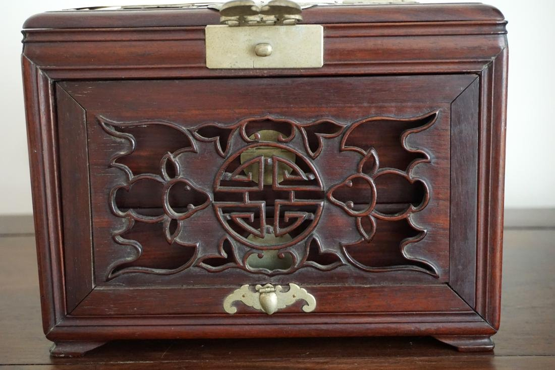 A Chinese Huali Wood Mirror Box - 5