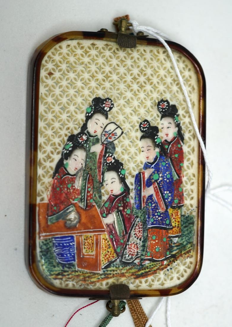 A Chinese  'Ladies' Mirror Pendant