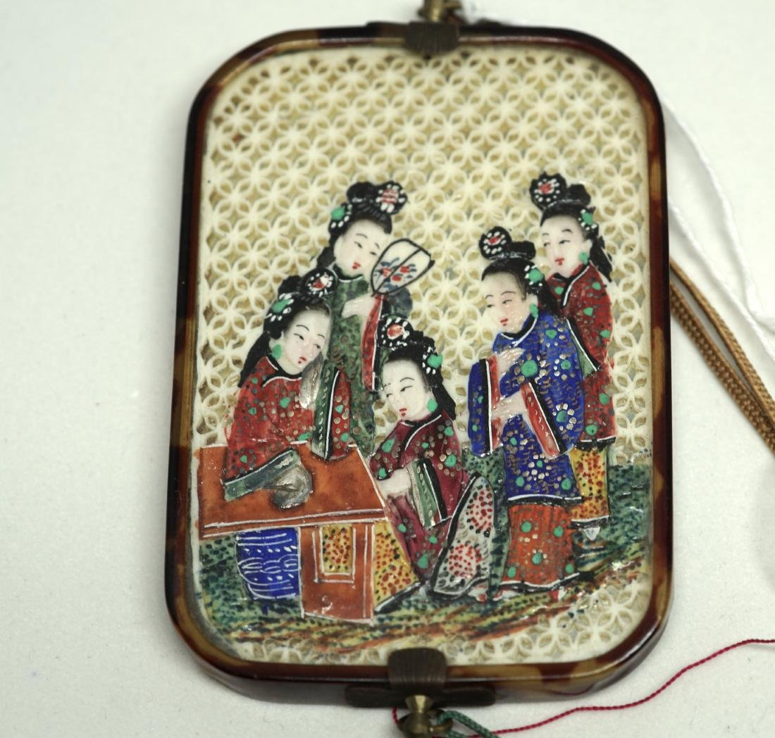 A Chinese  'Ladies' Mirror Pendant - 2