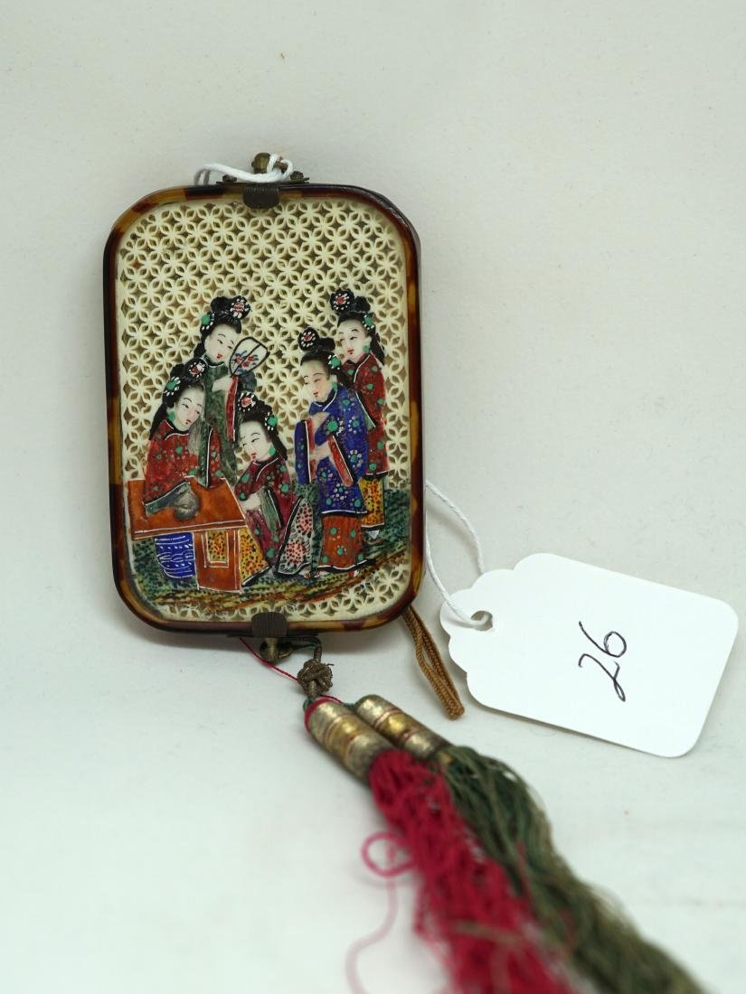 A Chinese  'Ladies' Mirror Pendant - 4