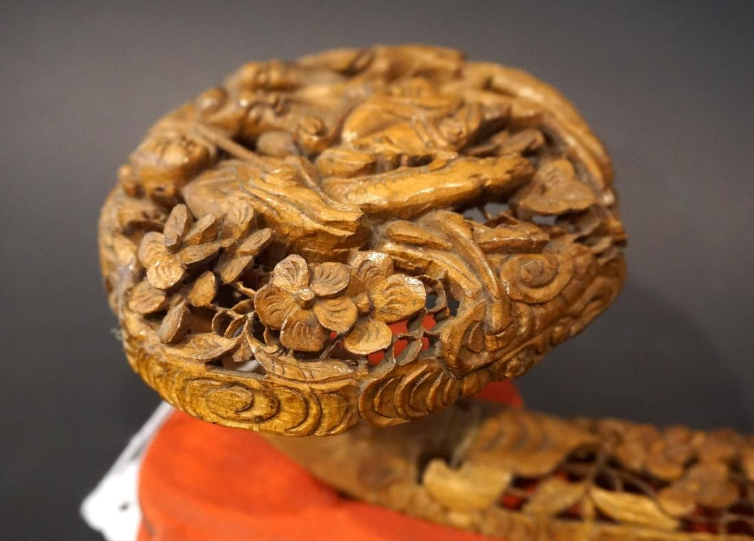 A Chinese Reticulated Boxwood Ruyi Sceptre - 4