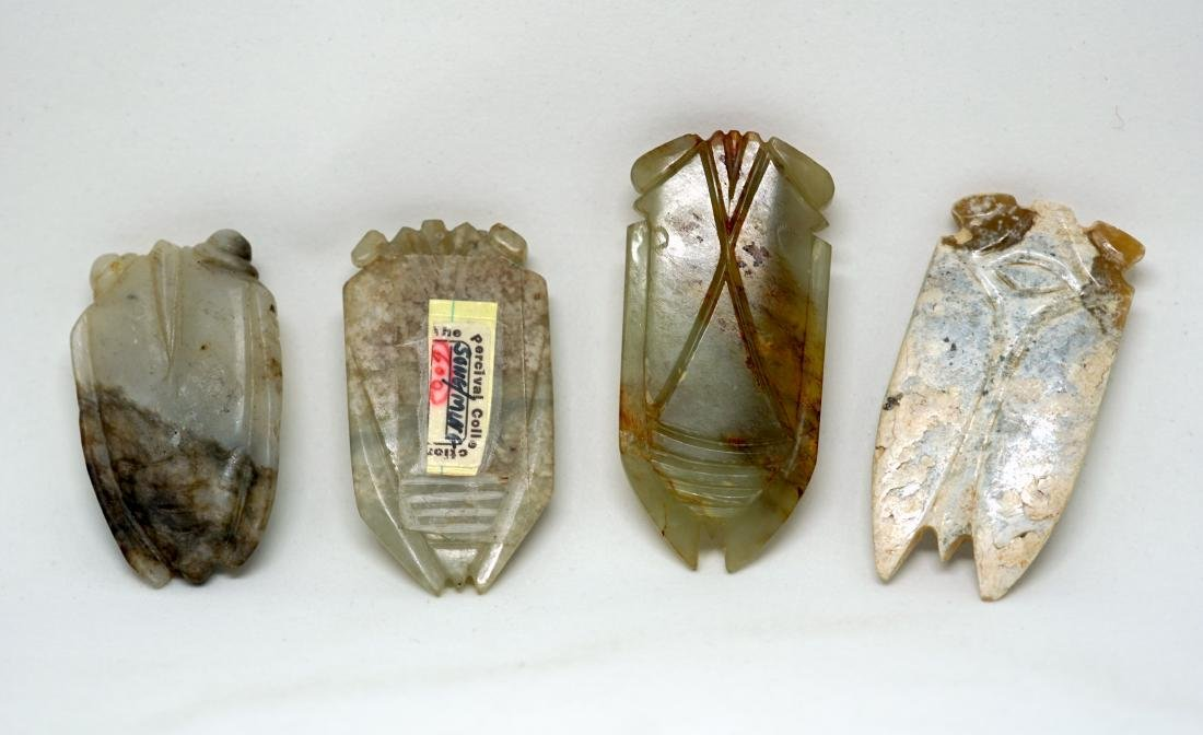 A Group of Four Chinese Jade Cicadas - 3