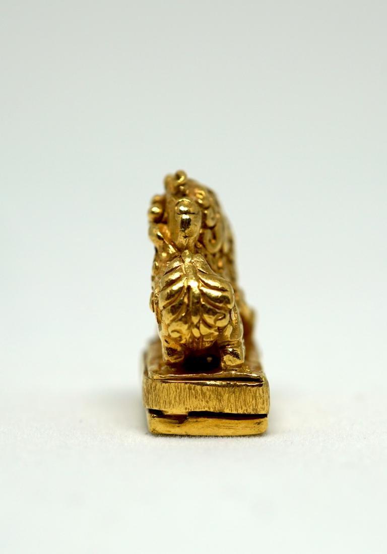 A Solid 22K Golden Lion Seal - 2