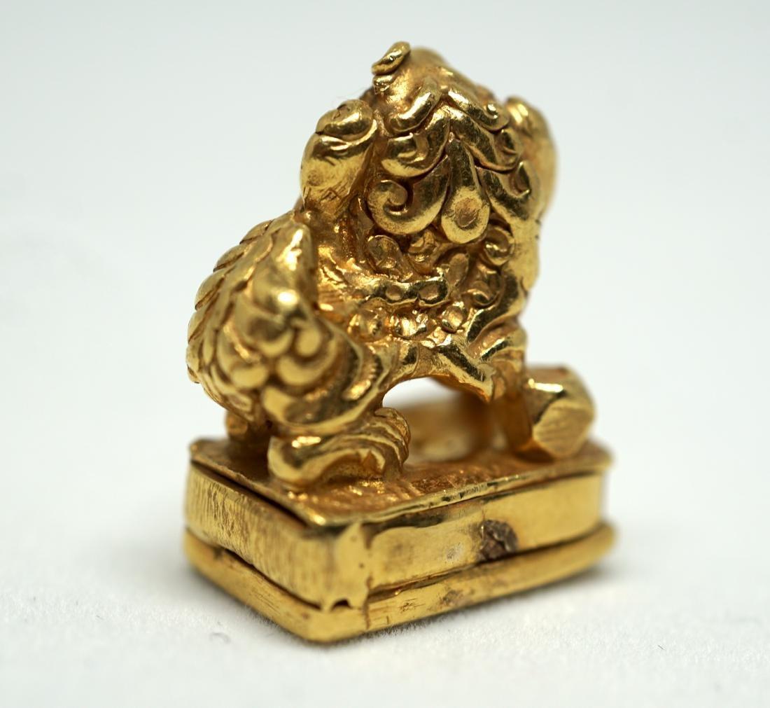 A Solid 22K Golden Lion Seal - 8