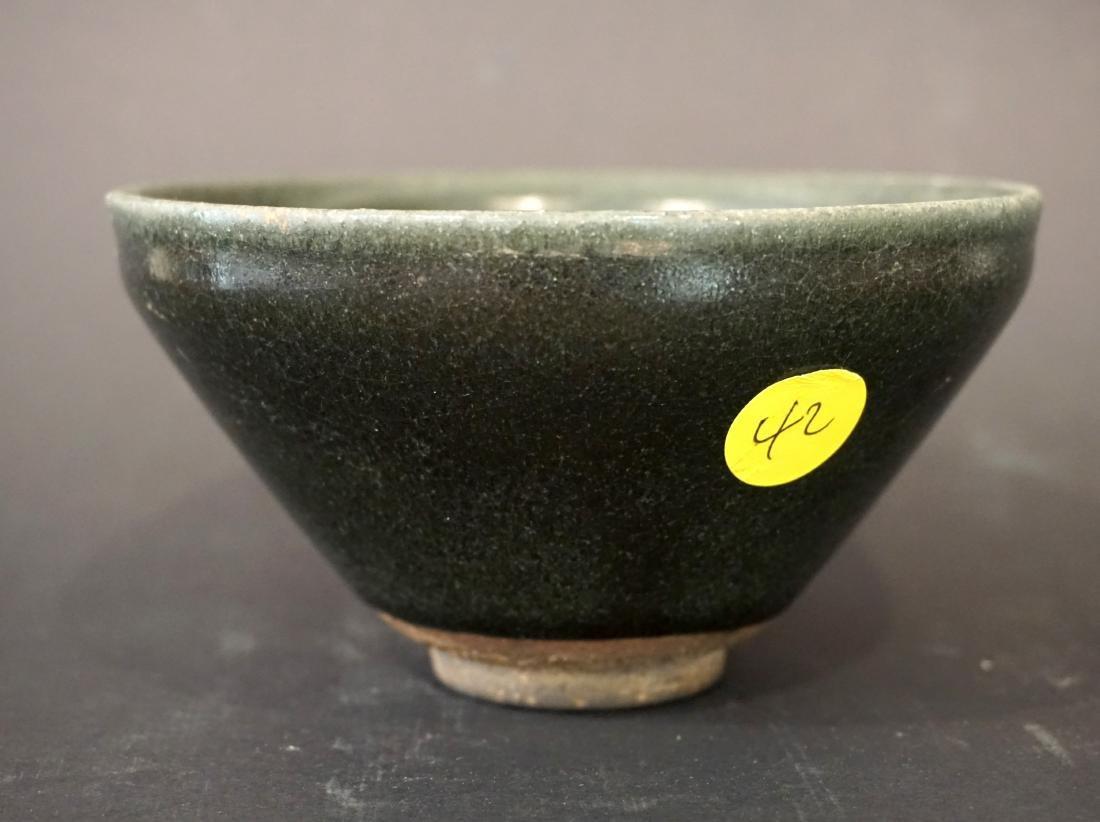 A Chinese Green Glazed Jian Tea Bowl