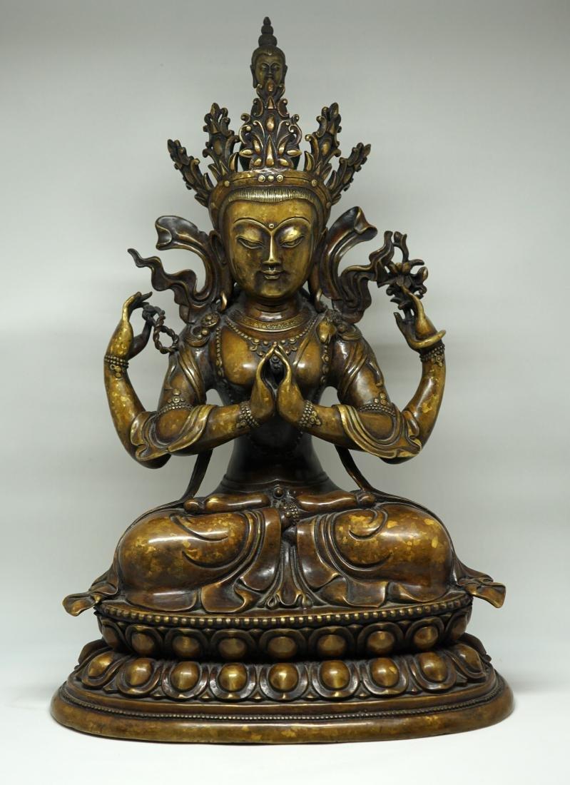 A Large Tibetan Bronze Figure of Shadakshari