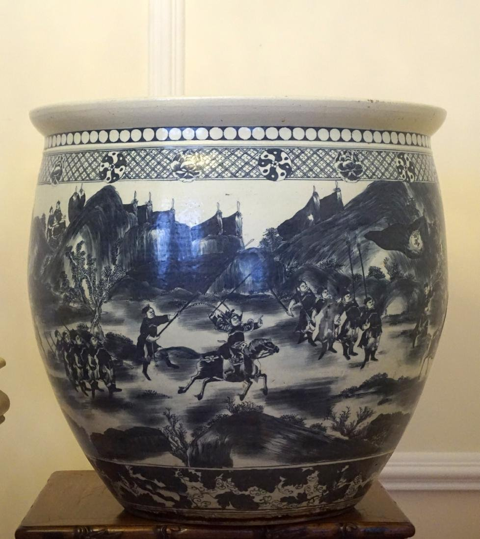 A Massive Chinese Blue and White Fish Bowl