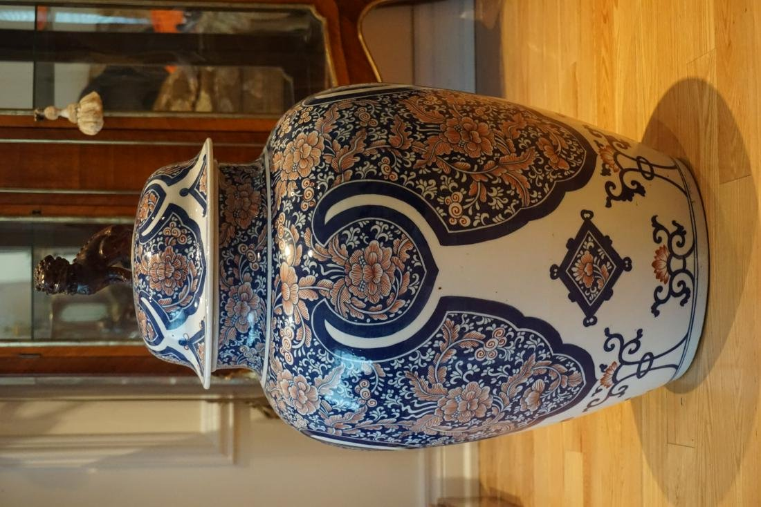A Rare and Large Chinese Under-Glaze Blue and Red Jar
