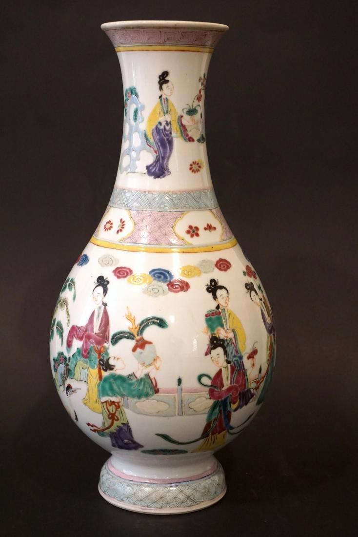 A Chinese Famille Rose Yongzheng-Style 'Ladies' Vase