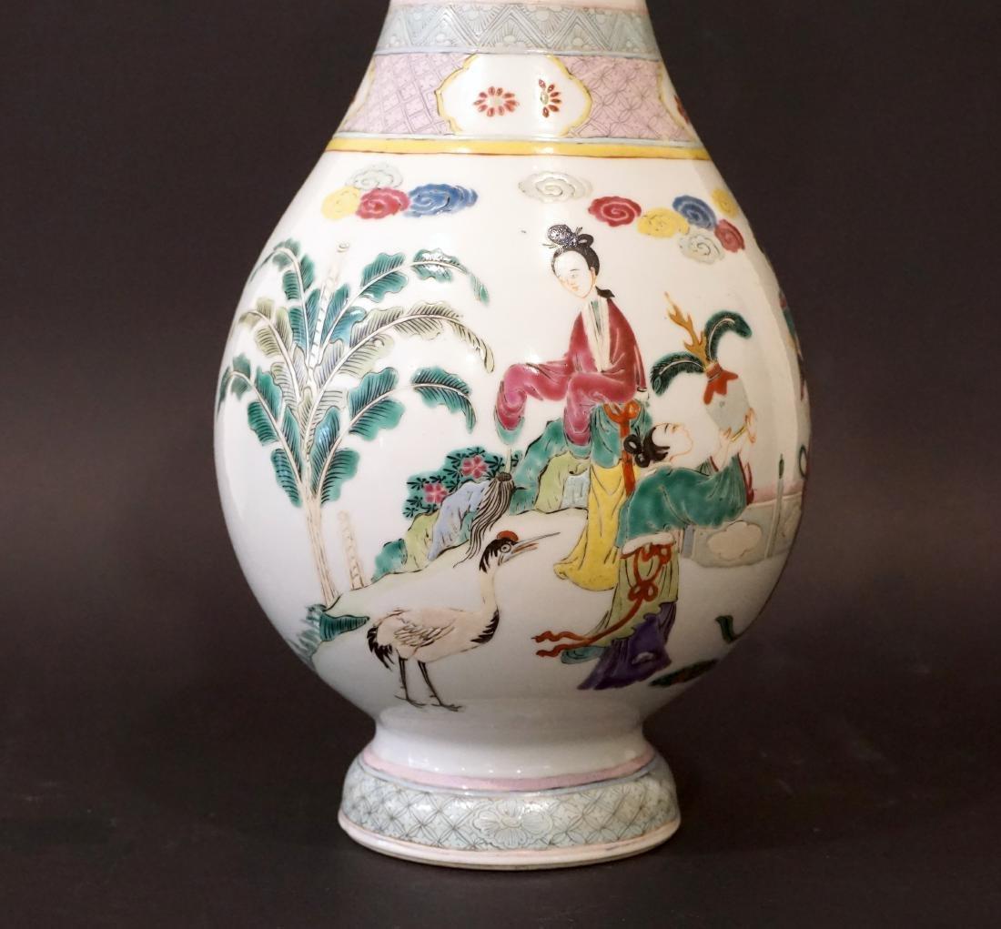 A Chinese Famille Rose Yongzheng-Style 'Ladies' Vase - 6