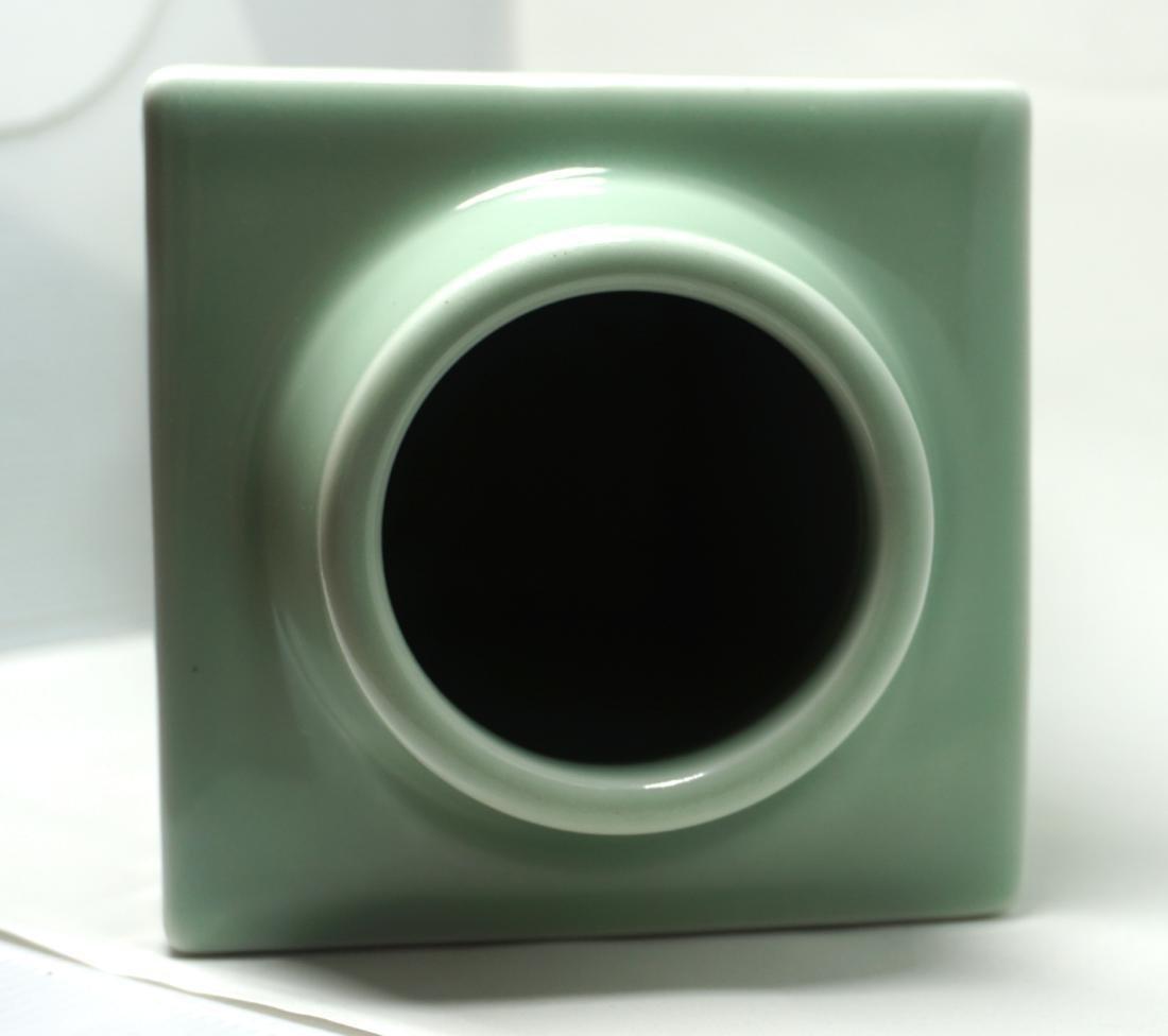 A Fine Celadon-Glazed Cong Form Vase - 7
