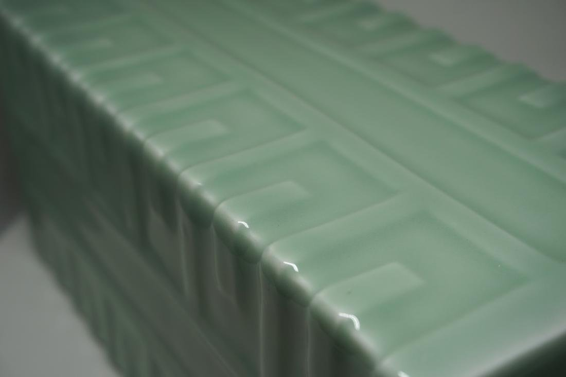 A Fine Celadon-Glazed Cong Form Vase - 8