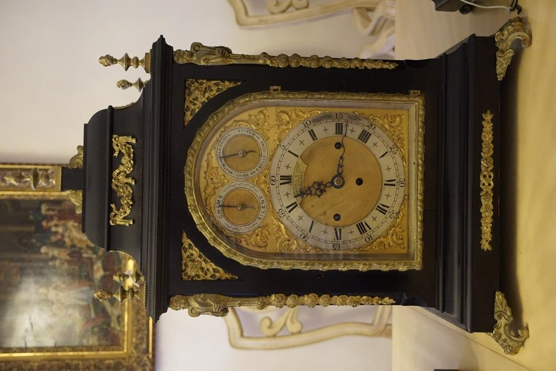 A Vulliamy Style English Bracket Clock, with 10 Bells