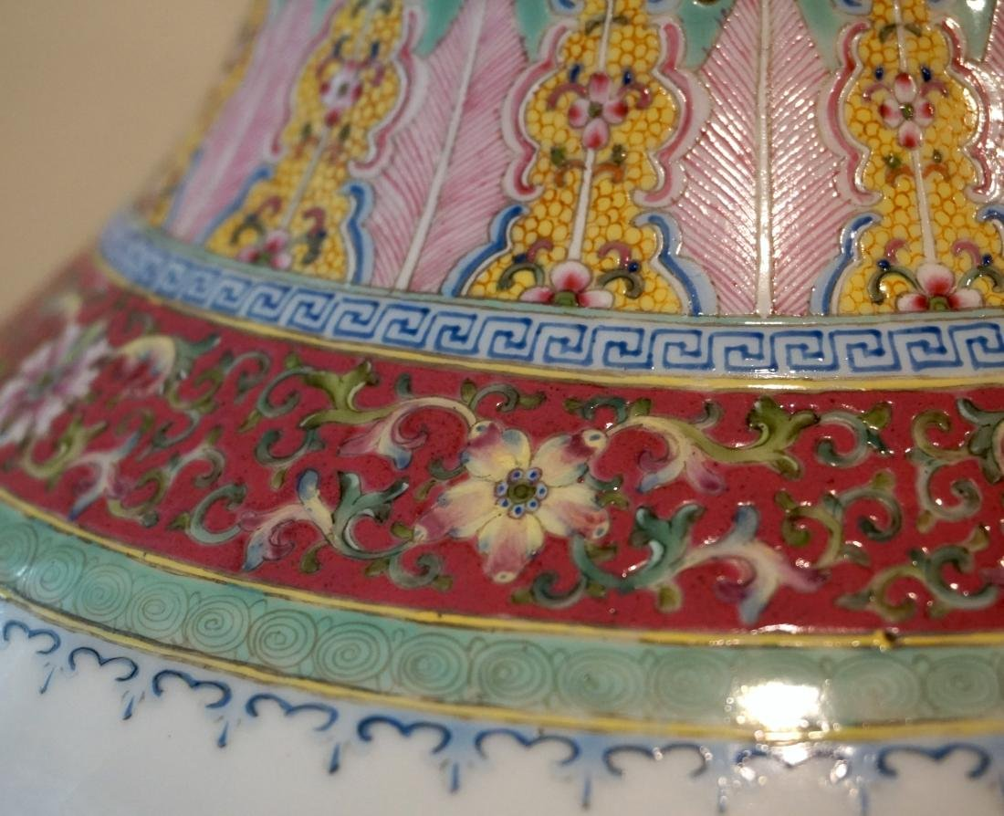 A Well-Painted Chinese Famille Rose 'Floral' Vase - 4