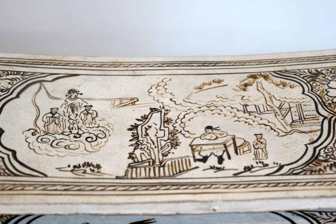 A Large Chinese Cizhou Pillow - 4